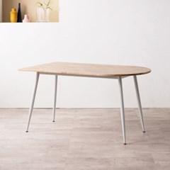 렌 고무나무 반타원형 원목 4인용 식탁 1400(의자미포함)