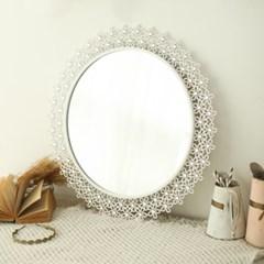인테리어 플라워 화장대 욕실 거울