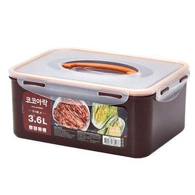 새드리 L5001SI 코코아락 진공밀폐 김치통 5호(소)-3.6L_(1375302)