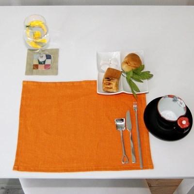 [나산] 냅킨 린넨 100% 젠스타일 R651-34 오렌지 40x30c