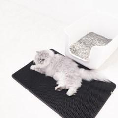 스타캣 고양이 모래매트_블랙(대형60cmX70cm)