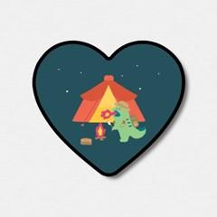 camping 랩터공룡 하트톡♥