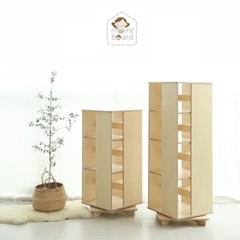 [맘스보드] 레브라운드회전책장(완조립) / 유아책장 회전책장