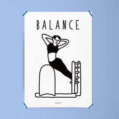 필라테스 운동 건강 M 유니크 인테리어 디자인 포스터