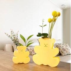 Beige Bear Acrylic Vase SET