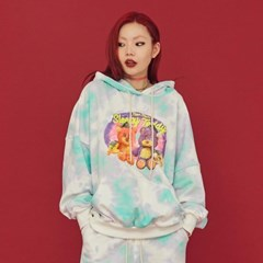 NEONMOON 20FW Teddy Tie-dye Hood T-Shirt