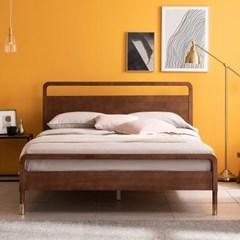 라벤나 고무나무 원목 침대(DH 본넬스프링 서포트 매트-Q)