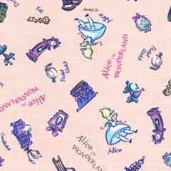 디즈니 리폼 패브릭 스티커 - 앨리스 큐리어스 A4_(1637379)