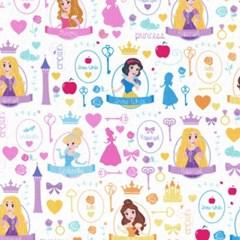 디즈니 리폼 패브릭 스티커 - 아이엠 프린세스 A4_(1637380)
