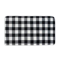 체크 똑딱이 망토 담요(80x140cm) (블랙)