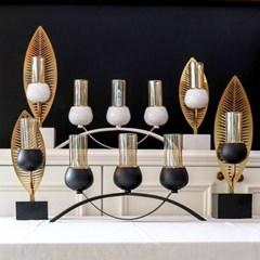 고급 인테리어 삼봉 촛대(2color)