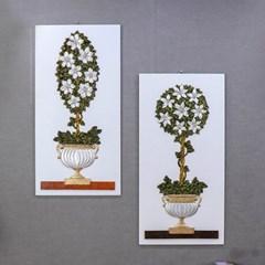 라벤더 꽃 빈티지 캔버스 그림 액자(2type)