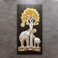 황금 돈 나무 코끼리 그림 액자
