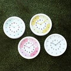 교육용 어린이 시계 공부 인테리어 벽시계(4color)