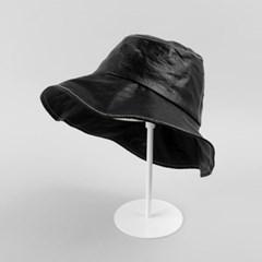 [베네]스타일리시 레더 벙거지 모자