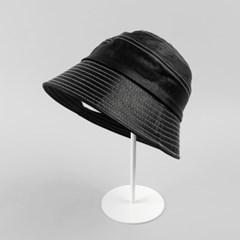 [베네]레더 라인 벙거지 모자