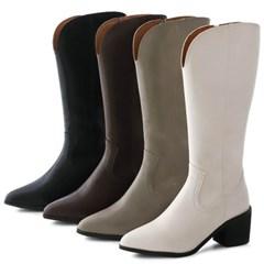 kami et muse Long zipper western boots_KM20w105
