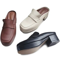 kami et muse Platform middle heel slippers_KM20w104
