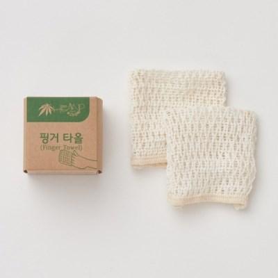 [예고은삼베] 삼베 핑거타올 2매+ 미니와입스 2매