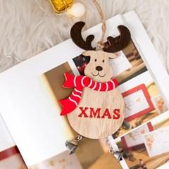 디얼머플러사슴 16cm 크리스마스 장식 소품 TROMCG