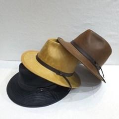 레더띠 패션 기본 챙넓은 연예인 꾸안꾸 페도라 모자