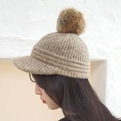 방울캡 패션 기본 데일리 여성 챙넓은 니트 볼캡 모자