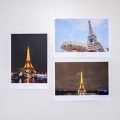 [메리필름] 파리 에펠탑 A3 캔버스 종이 포스터 3종