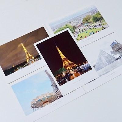 [메리필름] 파리 폴라로이드 여행 엽서 set (5장)