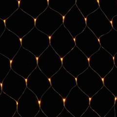 200구 투명선 LED 그물네트 지니전구/점멸 웜색전구