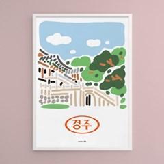 경주 불국사 M 유니크 인테리어 디자인 포스터 여행 역사