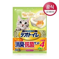 [LG유니참]데오토일렛 사막화 방지 소취항균 모래 4L