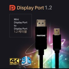 팬톤 PANTON MINI DP TO DP 1.2 케이블 4K UHD 3D 3M