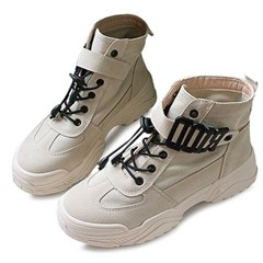 kami et muse Velcro strap ugly high top sneakers_KM20w111