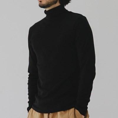 면 스판 골지 남자 목폴라티 폴라 티셔츠 목티