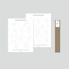 식물포스터 DIY [관엽식물편+선인장편 2종]