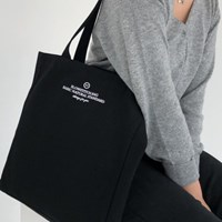 square canvas bag ( black )