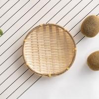 대나무 팝콘 미니 바구니 라탄 채반_(1432700)