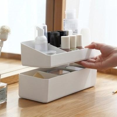칸칸 2단 분리형 화장 소품 다용도 정리함 3color