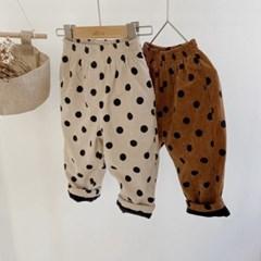 돌핀웨일 도트코듀로이기모팬츠(70~130cm)