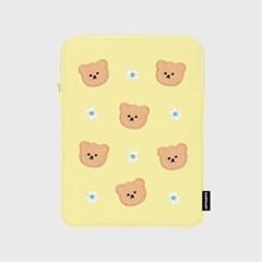 Dot flower bear-yellow(아이패드 파우치)_(1683728)