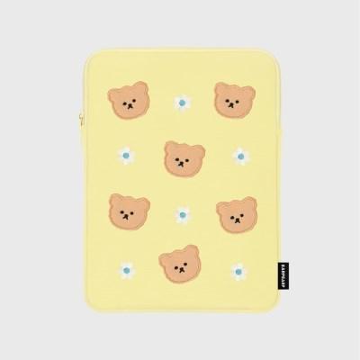 Dot flower bear-yellow(아이패드 파우치)
