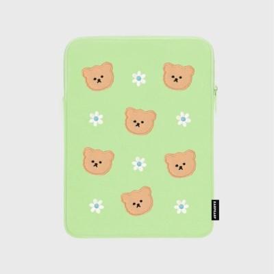 Dot flower bear-mint(아이패드 파우치)