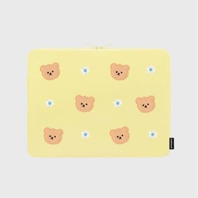 Dot flower bear-yellow(13인치 노트북파우치)