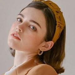 [장예원 착용] 엣지 라운드 믹스 귀걸이