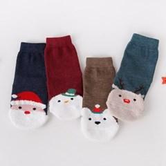 헬로삭스 유아동 크리스마스수면 양말 4종세트