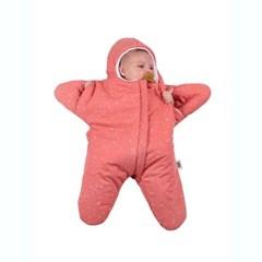 베이비바이츠 유아 아기 신생아 겉싸개 방한우주복 STAR CORAL