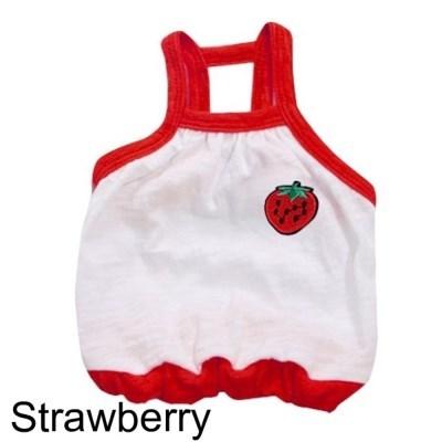 반려견 여름 옷시리즈 무지 과일 크롭티 딸기