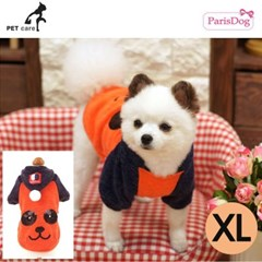 패리스독 팬더니트 후드티셔츠 (오렌지) (XL)