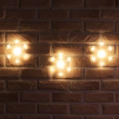 120구 투명선 LED 눈결정 웜색전구(2.7M) (점멸有)