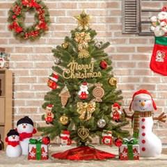 120cm 산타선물 최고급 리얼 전나무 트리 풀세트